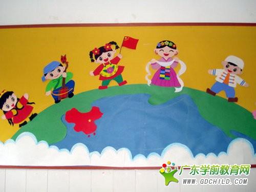 幼儿园国庆节主题墙面布置